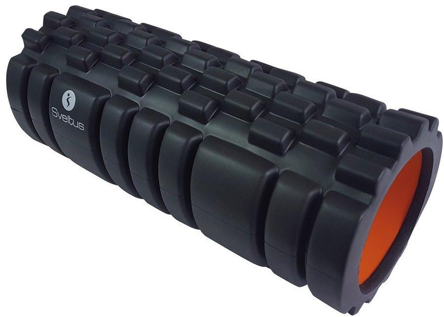 Sveltus Foam Roller With Grid Black/Orange